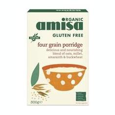 Porridge din 4 Cereale Fara Gluten Bio Amisa 300gr Cod: 5032722314368