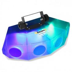 Beamz MINI-Moonflower, efect de lumină cu lentilă 4-LED, 132XRGBA, culoare transparentă