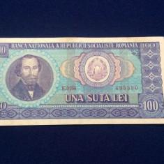 BANCNOTE ROMANIA - 100 LEI 1966 - SERIA 695390 (starea care se vede)