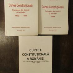 CURTEA CONSTITUTIONALA - CULEGERE DE DECIZII SI HOTARARI 1992-1996 3 VOLUME