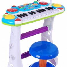 Orga cu scaunel si microfon functional - O jucarie pentru fetite si baieti BB335B