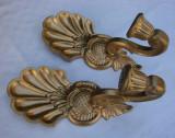 Doua aplice din lemn aurite pentru lumanari sau adaptabile electric, Altul