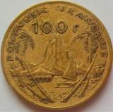 Moneda exotica 100 FRANCI - POLINEZIA FRANCEZA, anul 1976 *cod 3196, Australia si Oceania