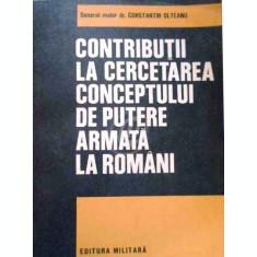 Contributii la cercetarea conceptului de putere armata la romani