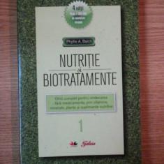 NUTRITIE SI BIOTRATAMENTE I de PHYLLIS A. BALCH