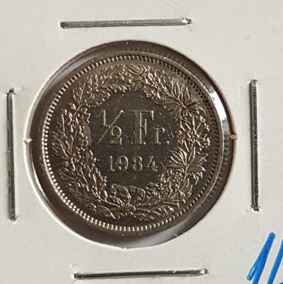 Elvetia 1/2 franc 1984 foto