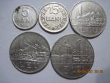 Romania (e108) - 5, 15 Bani, 1 Leu (2 pcs.), 3 Lei 1966