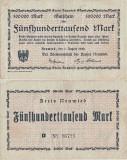 1923 ( 1 VIII ) , 500,000 mark ( Keller 3903l ) - Neuwied ( Germania )