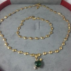 Set bijuterii Luxury Special Emerald Heart