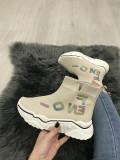 Adidasi dama bej cu platforma marime  38, 39+CADOU