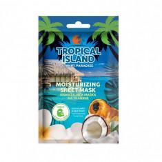 Masca de fata, Marion, Tropical Island Tahiti Paradise, verde, 1 bucata