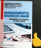 Managementul resurselor umane Intrebari de control si teste grila Caprarescu