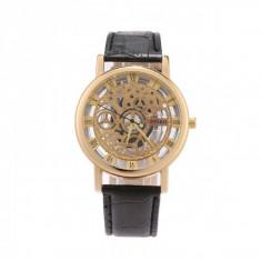 Ceas pentru barbati, Pinbo CS1130, curea piele, design skeleton