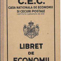 Libret de economii CEC 1947 carnet