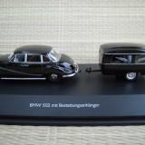 Macheta BMW 502 mit Bestattungsanhanger (1954) 1:43 Schuco
