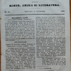 Ziarul Foaia pentru minte , inima si literatura , nr. 43 , 1853