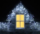 Instalatie 24 m turturi perdea Craciun 1080 LED alb multicolor albastru alb cald