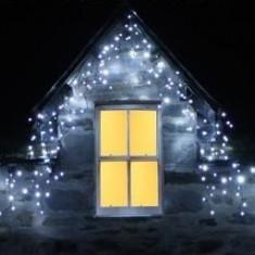 Instalatie 40m turturi perdea Craciun 1000 LED alb rece cald multicolor albastru