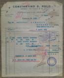 Factura marfa export, Catania// Vama Constanta, 1935