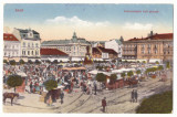 2297 - ARAD, Market, Romania - old postcard - used, Circulata, Printata