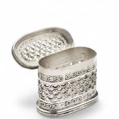 Caseta argintata ovala Traforata Sheffield by Chinelli Cod Produs 1211