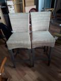 Scaune din ratan, inalte, pentru bar 100ron x 4