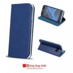 Husa Flip Carte CARBON Apple iPhone 6/6S Blue