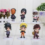 Figurine Naruto Shippuden Itachi, Gaara, Sasuke Obito 7 cm anime