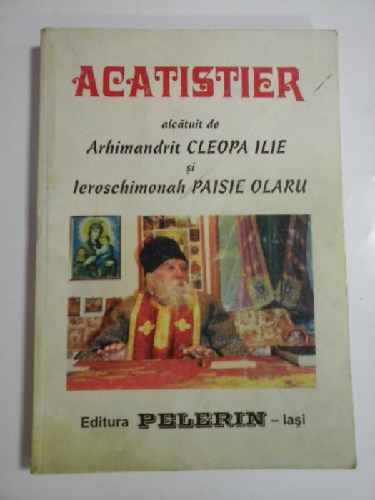 ACATISTIER ALCATUIT DE ARHIMANDRIT CLEOPA ILIE SI LEROSCHIMONAH PAISIE OLARU - BINECUVANTAREA PREA SFINTITULUI CALINIC EPISCOPUL ARGESULUI
