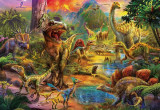 Puzzle Educa - Land of dinosaurs 1000 piese include lipici puzzle (17655)