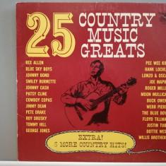 25 Country Music Greats – Selectii (1958/Starday/USA) - VINIL/Vinyl/Analog