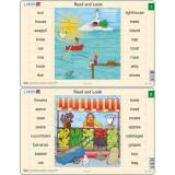 Set 10 Puzzle-uri Read and Look 1 -10 (EN), 16 piese Larsen LRRA1Initiala