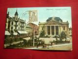 Ilustrata TCV Oradea - Teatrul Szigligeti 1915