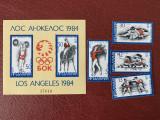 Bulgaria - Timbre sport, jocurile olimpice 1984, nestampilate MNH, Nestampilat