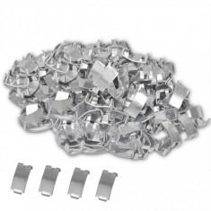 vidaXL 500 Cleme îmbinare sârmă ghimpată NATO, oțel galvanizat