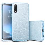 Cumpara ieftin Husa de protectie Samsung Galaxy A30 / Samsung Galaxy A50 2019 Albastra Sclipici Color Silicon TPU Carcasa
