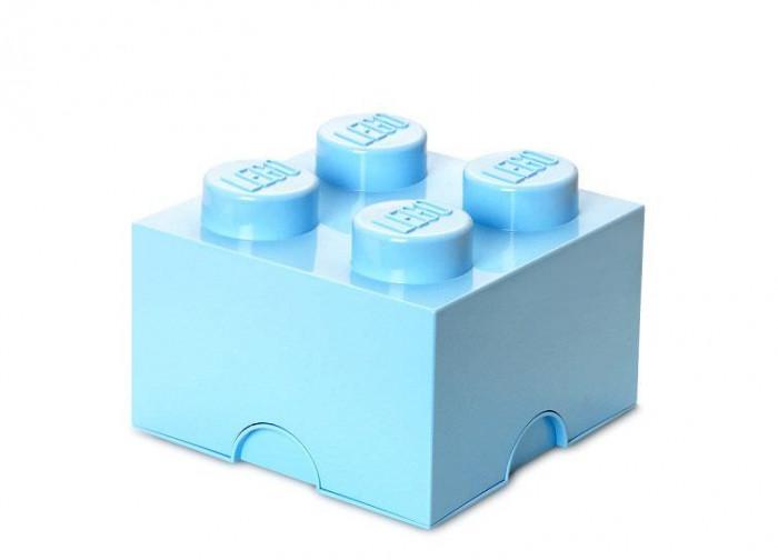 Cutie depozitare LEGO 2x2 - Albastru deschis