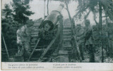 WW1 MILITARi TUN A GREAT CANNON IN POSITION REAL OLD VINTAGE POSTCARD
