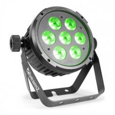 Beamz BT270 LED FLAT PAR, reflector led, 7 x 6 W, 4în1, RGBWA UV, telecomandă