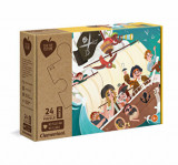 Cumpara ieftin Puzzle Maxi YO OH HO! Pirates, din materiale reciclate, 24 piese, Clementoni
