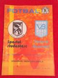 Program meci SPORTUL STUDENTESC-VICTORIA BUCURESTI(Cupa Romaniei-27.05.1987)