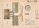 1969 Romania, Plic circulat colita ndt Semicentenarul Unirii LP 688