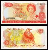 NOUA ZEELANDA █ bancnota █ 5 Dollars █ 1981-1992 █ P-171c █ UNC
