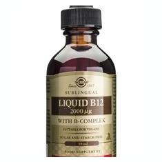Vitamin B12 2000mg with B Complex Solgar 59ml Cod: 2317