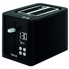 Prajitor de paine TEFAL Smart'n Light TT640810, 850W, ecran digital, 3 functii dedicate, 7 niveluri de rumenire, Negru