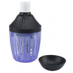 Bec antiinsecte cu LEDuri UV 5W raza 75 mp, 2 in 1, E27, ProCart®