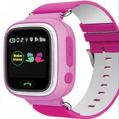 Ceas pentru copii cu GPS Tracker , culoare roz , cu locas SIM Kft Auto