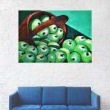 Tablou Canvas, Cosul cu merele verzi - 40 x 60 cm