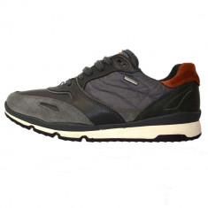 Pantofi tip adidasi de barbati, din piele naturala, marca Geox, U34L3R-1, negru