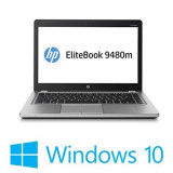 Laptop refurbished HP EliteBook Folio 9480m, Core i7-4600u, Win 10 Home, Intel Core i7